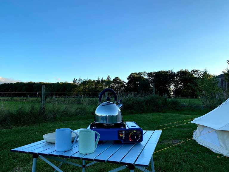 Bell Tent Gas Stove and Kettle
