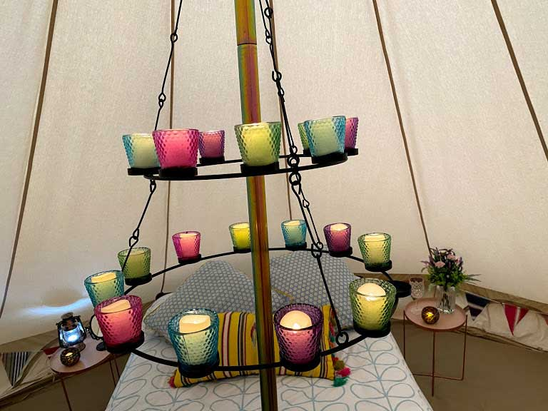 Bell Tent chandelier lighting