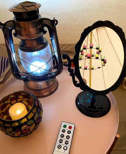 Bell Tent Bedside light with remote controlled chandelier lighting