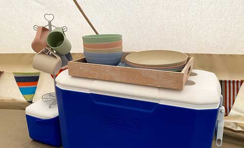 Bell Tent Plate and mugs