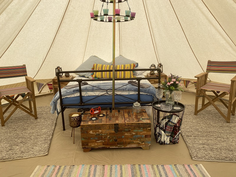 Bell Tent living area